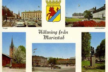 Vykort från Mariestad